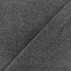 Jersey tubulaire bord-côte chiné - anthracite x 10cm