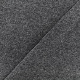 Mocked knitted Jersey 1/1 tubular edging fabric - anthracite x 10cm