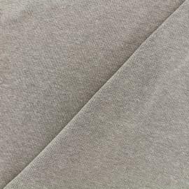 Jersey tubulaire bord-côte chiné - sable x 10cm