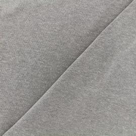 Jersey tubulaire bord-côte chiné - gris x 10cm