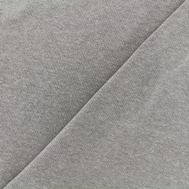 Mocked knitted Jersey 1/1 tubular edging fabric - grey x 10cm