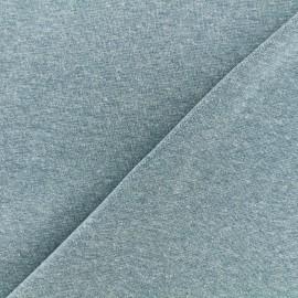 Jersey tubulaire bord-côte chiné - bleu givré x 10cm