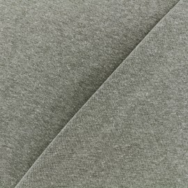 Mocked knitted Jersey 1/1 tubular edging fabric - khaki x 10cm