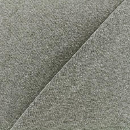 Mocked knitted Jersey 1/1 tubular edging fabric - khaki x 10cm