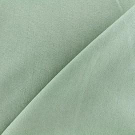 Tissu jeans 400gr/ml - vert pâle x 10cm