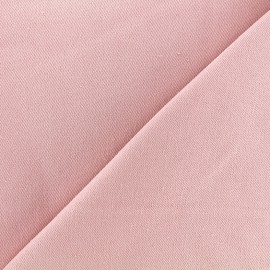 Tissu jeans 400gr/ml - rose dragée x 10cm