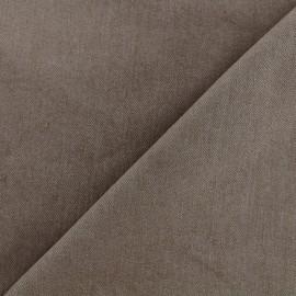 Tissu jeans 400gr/ml - marron clair x 10cm
