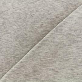 Tissu jersey uni - gris clair chiné x 10cm