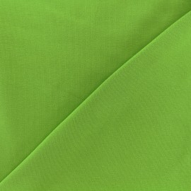 Tissu jersey uni - vert tilleul x 10cm
