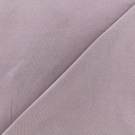 Tissu jersey uni - lilas x 10cm