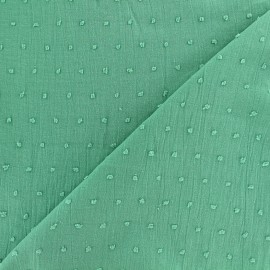 Oeko-Tex Plumetis Cotton Fabric - seagreen x 10cm