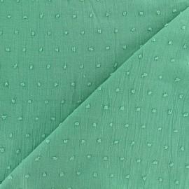 Tissu Plumetis coton - vert d'eau x 10cm