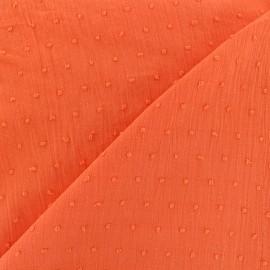 Tissu Plumetis - corail x 10cm