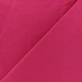 Tissu sweat léger Uni - framboise x 10cm