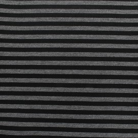Tissu Néoprène Scuba rayé 5mm - gris bleu x 10cm