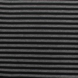 Tissu Néoprène Scuba rayé 5mm - gris x 10cm