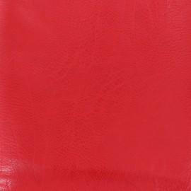 Simili cuir frappé vintage - rouge x 10cm