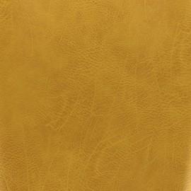 Simili cuir frappé vintage - moutarde x 10cm