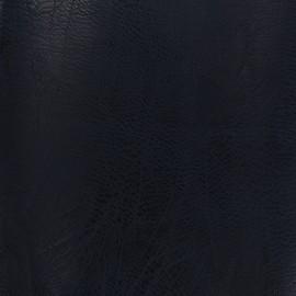 Simili cuir frappé vintage - bleu nuit x 10cm