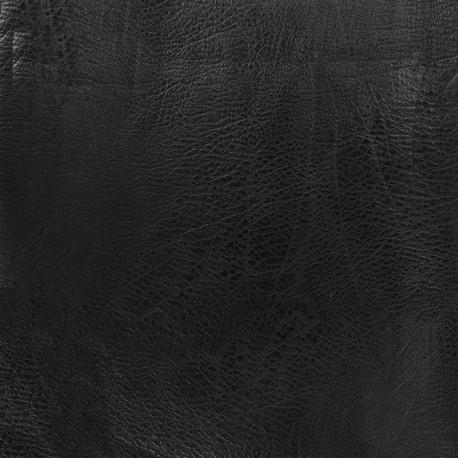 Imitation leather frappé vintage - black x 10cm