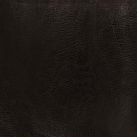 Simili cuir frappé vintage - marron foncé x 10cm