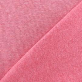 Tissu sweat chiné - fuchsia x 10cm