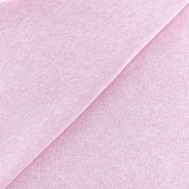 sweat fabric Chiné - pink x 10cm
