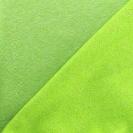 Tissu sweat chiné - anis x 10cm