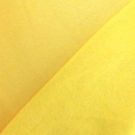 Tissu sweat chiné - jaune x 10cm