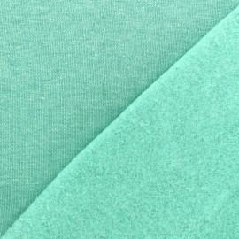 Tissu sweat chiné - vert d'eau x 10cm