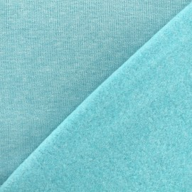sweat fabric Chiné - turquoise x 10cm