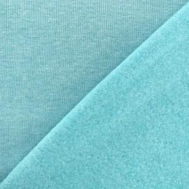 Tissu sweat chiné - turquoise x 10cm
