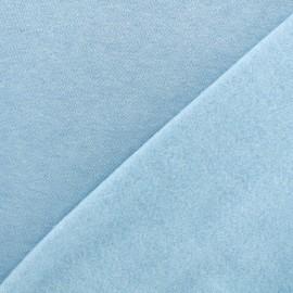 Tissu sweat chiné - bleu ciel x 10cm