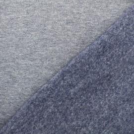 Tissu sweat chiné - bleu jean x 10cm