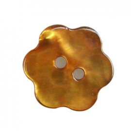 Mother-of-pearl Button, Flower - orange