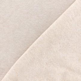 Tissu sweat chiné - sable x 10cm