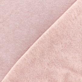 Tissu sweat chiné - poudre x 10cm