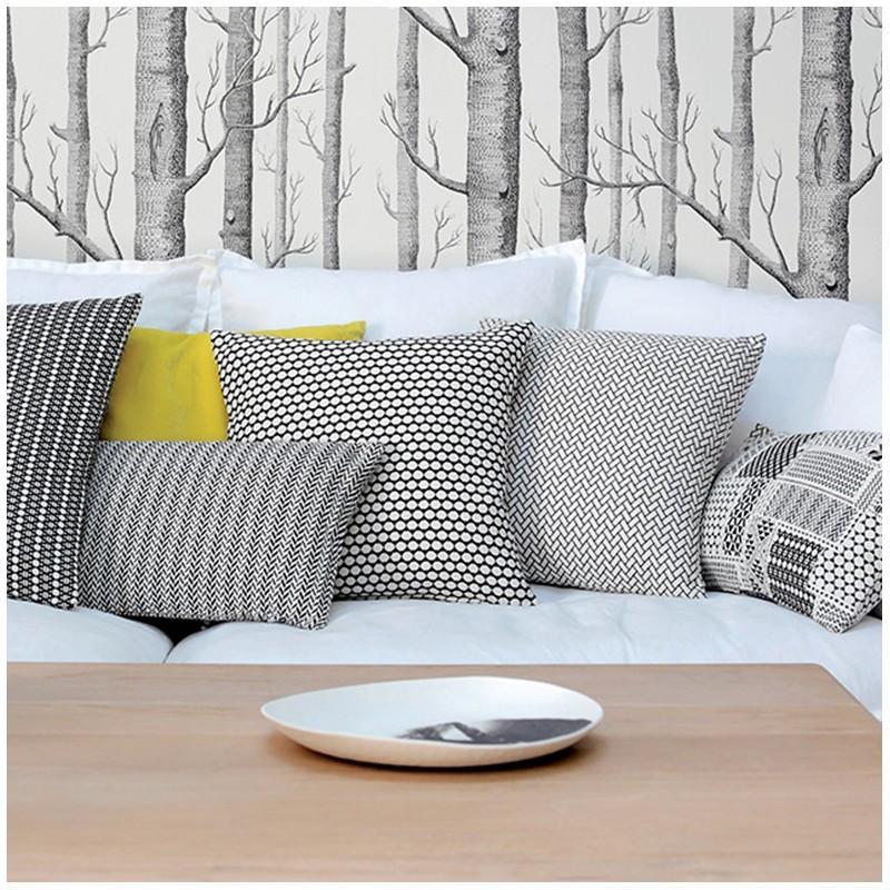 tissu jacquard orlando noir et blanc x 10cm ma petite. Black Bedroom Furniture Sets. Home Design Ideas