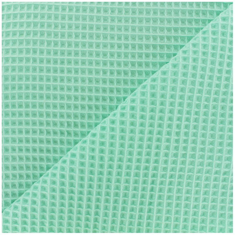 Double-sided Honeycomb towel fabric - seagreen x 10cm - Ma ...