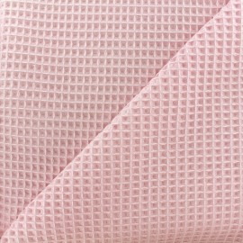 Double-sided Honeycomb towel fabric - pale pink x 10cm
