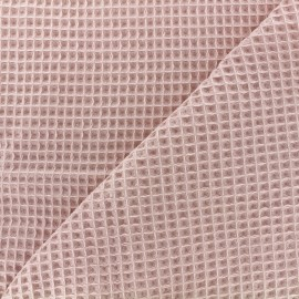 Double-sided Honeycomb towel fabric - peach x 10cm