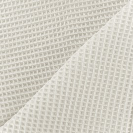 Double-sided Honeycomb towel fabric - off-white x 10cm