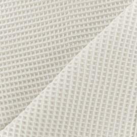 Tissu éponge nid d'abeille recto-verso - blanc cassé x 10cm