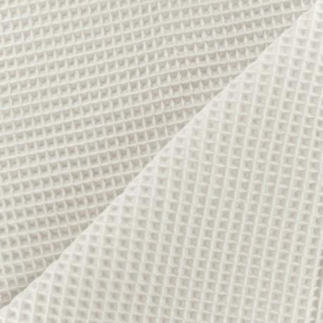 tissu ponge nid d 39 abeille recto verso blanc cass x. Black Bedroom Furniture Sets. Home Design Ideas