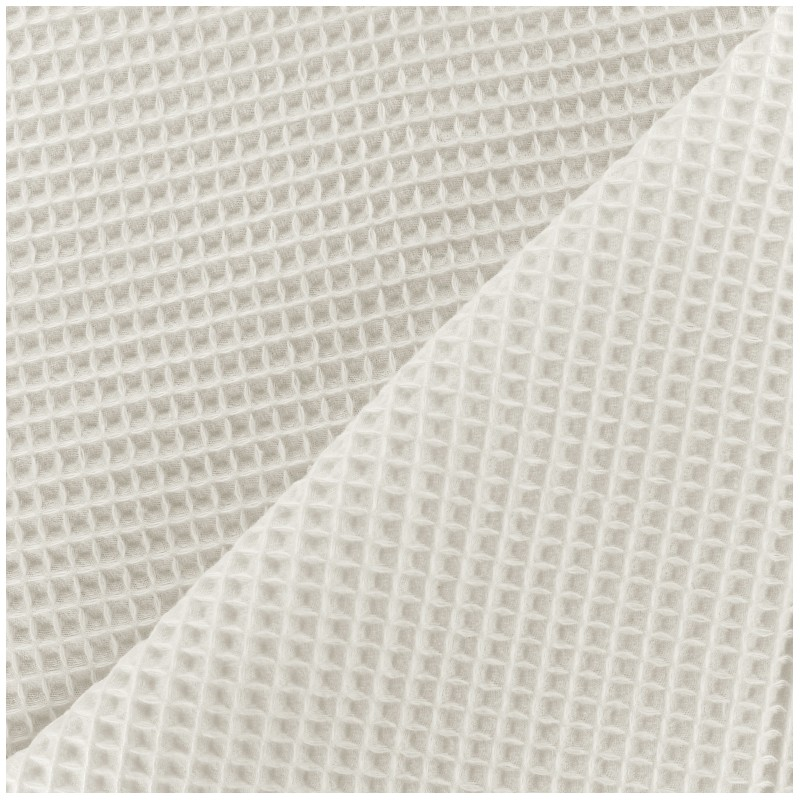 Double Sided Honeycomb Towel Fabric Off White X 10cm