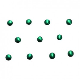 Round-shaped Créative Déco rhinestones 4 mm - green