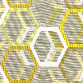 Woven jacquard canvas Hypnose - gold x 16cm