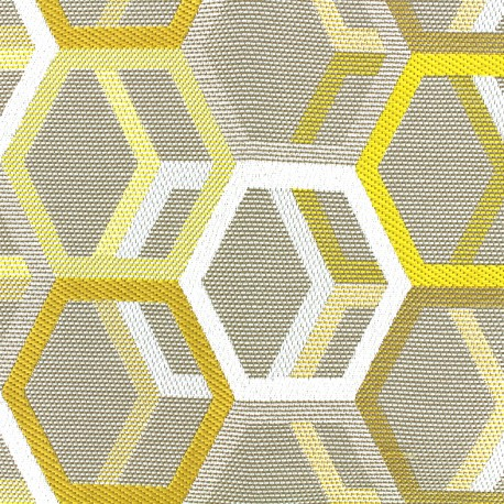 Quilted aspect weaved Hypnose - gold x 16cm