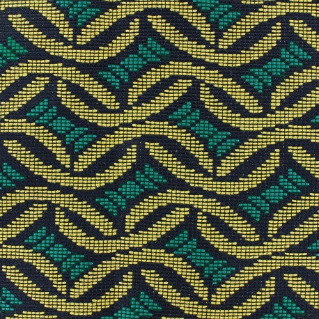 Quilted aspect weaved Babacar - Esmerald x 10cm