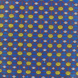 Woven jacquard canvas Dakar - azure x 10cm